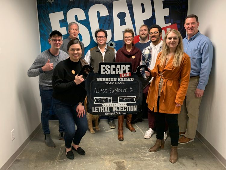 GoodMaps team after completing an Escape Room challenge